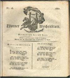 Thorner Wochenblatt 1831, Nro. 16 + Intelligenz Nachrichten