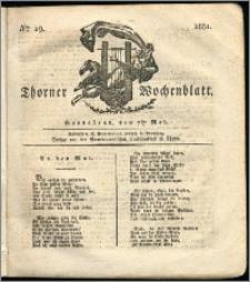Thorner Wochenblatt 1831, Nro. 19 + Intelligenz Nachrichten
