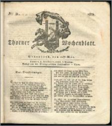 Thorner Wochenblatt 1831, Nro. 21 + Intelligenz Nachrichten