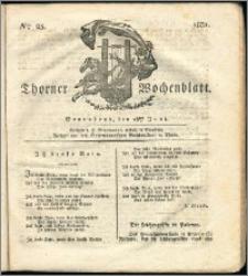 Thorner Wochenblatt 1831, Nro. 25 + Intelligenz Nachrichten, Beilage, Publikandum