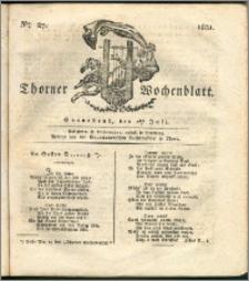 Thorner Wochenblatt 1831, Nro. 27 + Intelligenz Nachrichten