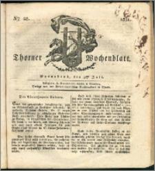 Thorner Wochenblatt 1831, Nro. 28 + Intelligenz Nachrichten