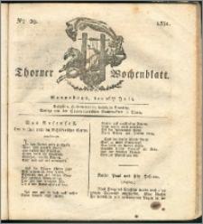 Thorner Wochenblatt 1831, Nro. 29 + Intelligenz Nachrichten, Beilage