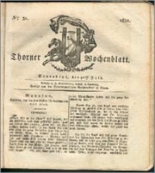 Thorner Wochenblatt 1831, Nro. 31 + Intelligenz Nachrichten, Beilage
