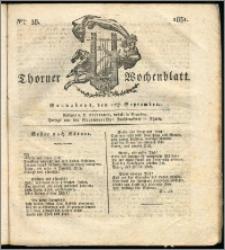 Thorner Wochenblatt 1831, Nro. 38 + Intelligenz Nachrichten, Beilage
