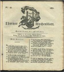 Thorner Wochenblatt 1831, Nro. 42 + Intelligenz Nachrichten