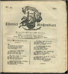 Thorner Wochenblatt 1831, Nro. 43 + Intelligenz Nachrichten