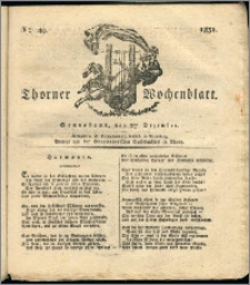 Thorner Wochenblatt 1831, Nro. 49 + Intelligenz Nachrichten