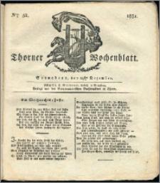 Thorner Wochenblatt 1831, Nro. 52 + Intelligenz Nachrichten