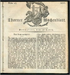 Thorner Wochenblatt 1832, Nro. 15 + Intelligenz Nachrichten