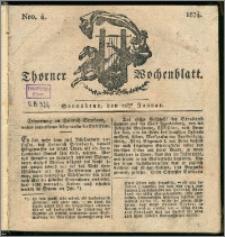 Thorner Wochenblatt 1834, Nro. 4 + Beilage