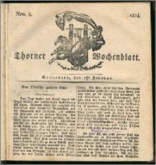 Thorner Wochenblatt 1834, Nro. 5 + Beilage, II Beilage