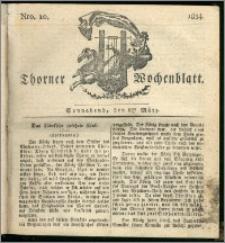 Thorner Wochenblatt 1834, Nro. 10 + Beilage