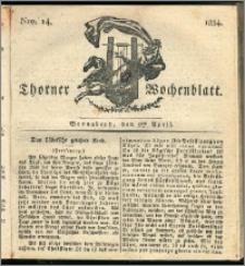 Thorner Wochenblatt 1834, Nro. 14 + Beilage