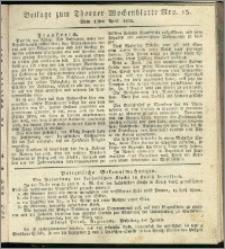 Thorner Wochenblatt 1834, Nro. 15 + Beilage
