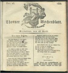 Thorner Wochenblatt 1834, Nro. 16 + Beilage
