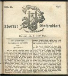 Thorner Wochenblatt 1834, Nro. 21 + Beilage