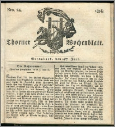 Thorner Wochenblatt 1834, Nro. 24 + Beilage