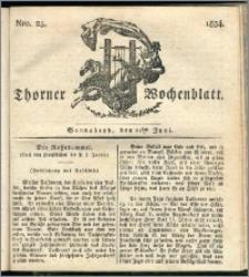 Thorner Wochenblatt 1834, Nro. 25 + Beilage