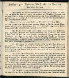 Thorner Wochenblatt 1834, Nro. 28 + Beilage