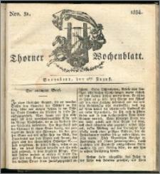 Thorner Wochenblatt 1834, Nro. 31 + Beilage