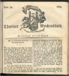 Thorner Wochenblatt 1834, Nro. 33 + Beilage