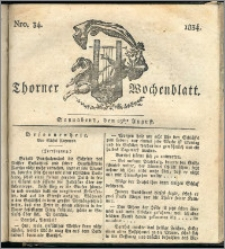 Thorner Wochenblatt 1834, Nro. 34