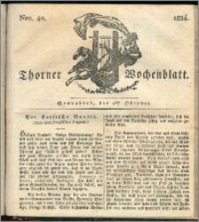 Thorner Wochenblatt 1834, Nro. 40 + Beilage