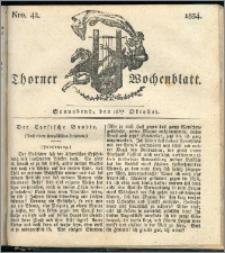 Thorner Wochenblatt 1834, Nro. 42 + Beilage