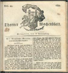 Thorner Wochenblatt 1834, Nro. 44 + Beilage