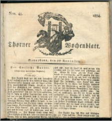 Thorner Wochenblatt 1834, Nro. 45 + Beilage
