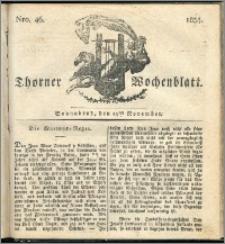 Thorner Wochenblatt 1834, Nro. 46 + Beilage