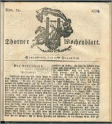 Thorner Wochenblatt 1834, Nro. 51