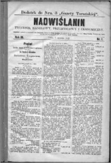 Nadwiślanin : tygodnik handlowy, przemysłowy i ekonomiczny 1875, R. 3 nr 1