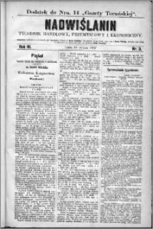 Nadwiślanin : tygodnik handlowy, przemysłowy i ekonomiczny 1875, R. 3 nr 3