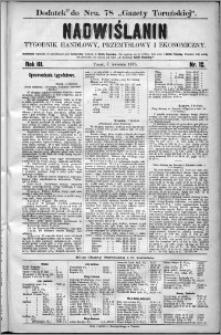 Nadwiślanin : tygodnik handlowy, przemysłowy i ekonomiczny 1875, R. 3 nr 12