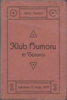 Klub Humoru w Toruniu : załozony 11 maja 1919