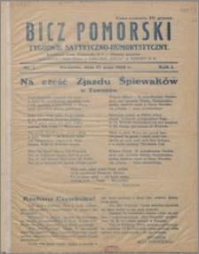 Bicz Pomorski : tygodnik satyryczno-humorystyczny 1928, R. 1 nr 1