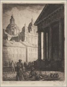 Ratusz i kościół św. Kazimierza w Wilnie