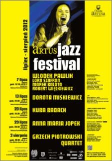 Artus Jazz Festival : lipiec - sierpień 2012 : [afisz-1]