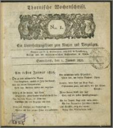 Thornische Wochenschrift 1825, Nro. 1