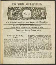 Thornische Wochenschrift 1825, Nro. 4 + Beilage