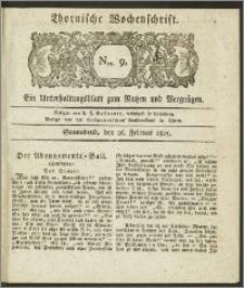Thornische Wochenschrift 1825, Nro. 9 + Beilage