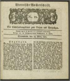 Thornische Wochenschrift 1825, Nro. 12 + Beilage