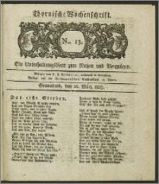 Thornische Wochenschrift 1825, Nro. 13 + Beilage
