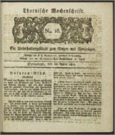 Thornische Wochenschrift 1825, Nro. 16