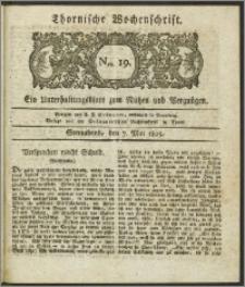 Thornische Wochenschrift 1825, Nro. 19 + Beilage