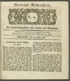 Thornische Wochenschrift 1825, Nro. 20