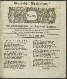 Thornische Wochenschrift 1825, Nro. 23 + Beilage