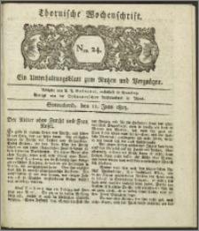 Thornische Wochenschrift 1825, Nro. 24 + Beilage